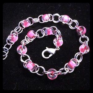 HANDMADE Pink Link Chainmail Bracelet